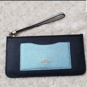 Coach Top Zip Colorblock Wallet